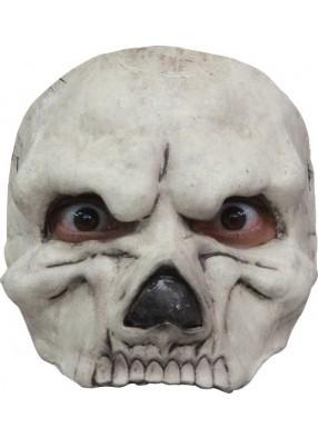 Полумаска белого черепа