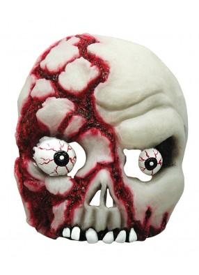 Полумаска череп кровавый светящийся