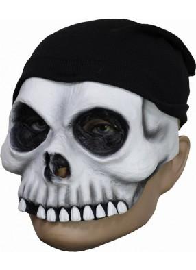 Полумаска череп в шапочке