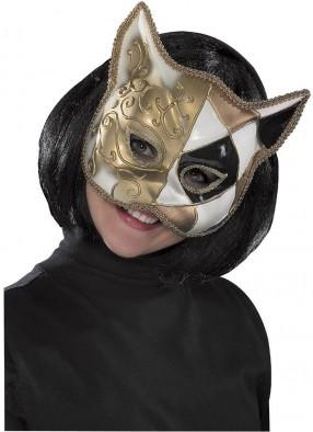 Полумаска кошки Домино