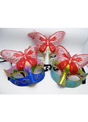 Полумаска с красивой бабочкой