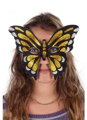 Полумаска золотой бабочки