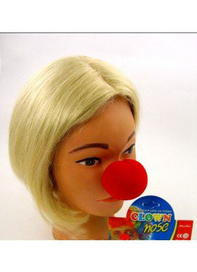 Поролоновый нос клоуна