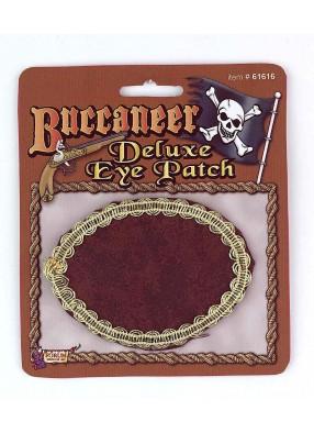 Повязка на глаз пиратская коричневая
