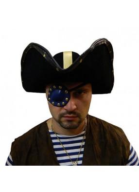 Повязка пирата люкс синяя