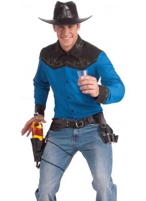 Пояс ковбоя с бутылкой и рюмкой