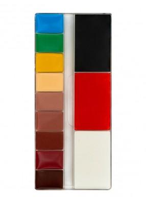 Профессиональная палитра театрального грима 12 цветов Топ