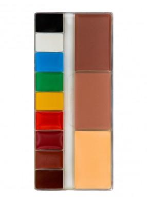 Профессиональная палитра театрального грима 12 цветов Тональная