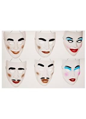 Прозрачная маска с макияжем