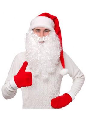 Пушистая борода Деда Мороза средняя