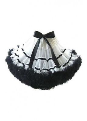 Пышная черно белая юбка фото