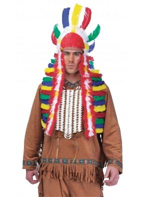 Разноцветный головной убор индейца
