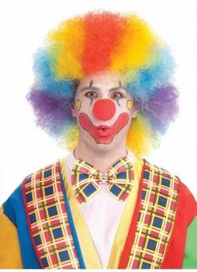 Разноцветный парик клоуна deluxe
