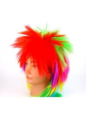 Разноцветный парик панка
