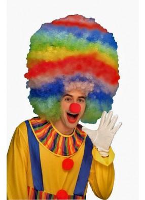 Разноцветный мега-парик клоуна