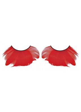 Ресницы - багровые перья