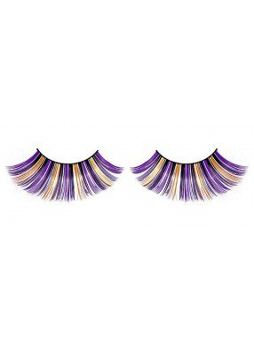 Ресницы фиолетово-золотистые