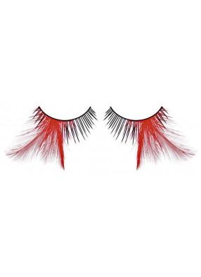 Ресницы игольчатые с красными перьями