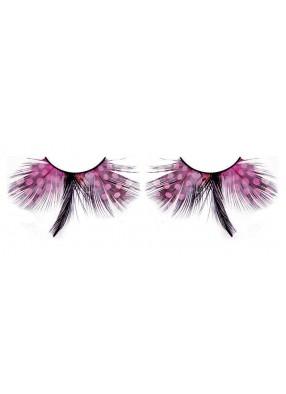 Ресницы перьевые - сиреневые бабочки