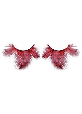 Ресницы перьевые бордовые