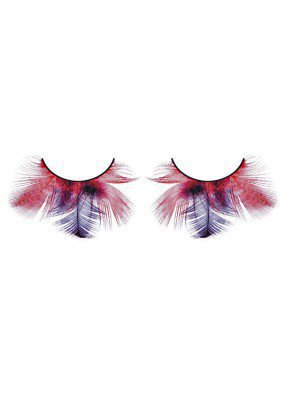 Ресницы перьевые бордово-сиреневые