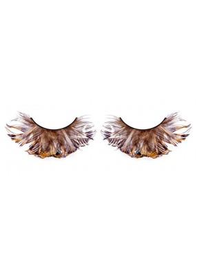 Ресницы перьевые-пышные черные