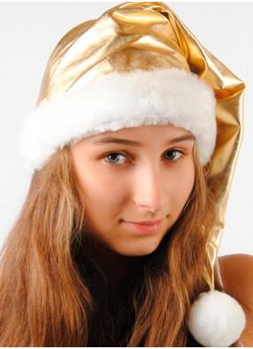 Рождественский колпак золотой