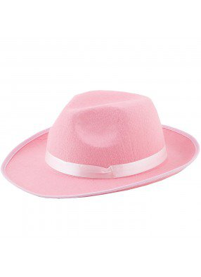 Розовая гангстерская шляпа