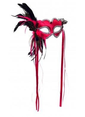 Розовая маска для феи фото