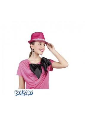 Розовая шляпа-федора