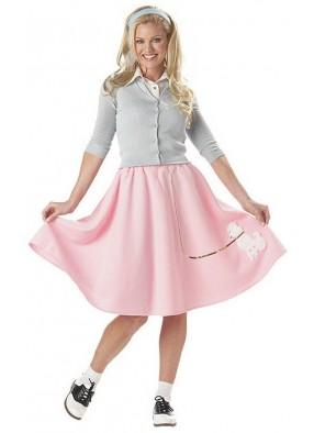 Розовая юбка в стиле 50-х
