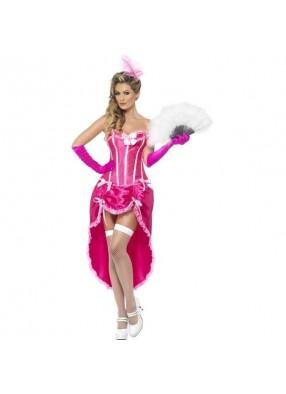 Розовый костюм танцовщицы бурлеска