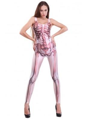 Розовый Комбинезон-скелет