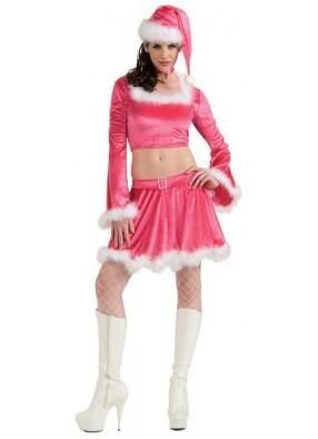 Розовый костюм подружки Санты