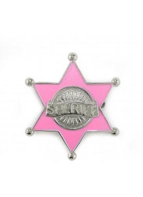 Розовый значок шерифа