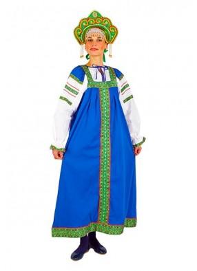 Русский фольклорный костюм из хлопка