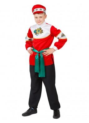 Русский костюм Калинка с картузом для мальчика