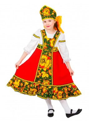 Русский костюм Ульянка Хохлома с кокошником