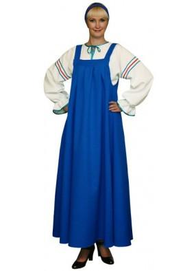 Русский национальный сарафан синий