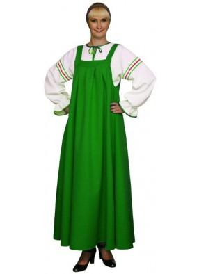 Русский национальный сарафан зеленый