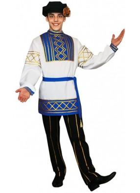 Русский народный мужской костюм голубой