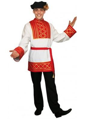Русский народный мужской костюм красный