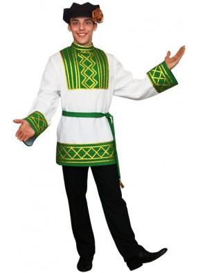 Русский народный мужской костюм зеленый