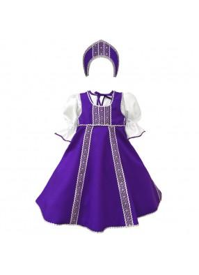 Сарафан для танцев фиолетовый