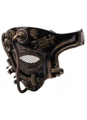 Серебряная маска в стиле Стимпанк