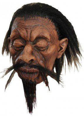 Съеженная голова с бородой и усами