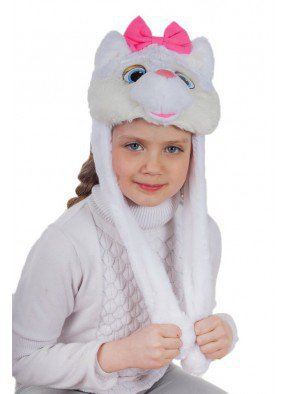 Шапочка белой кошечки