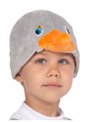 Шапочка серого гусенка для детей