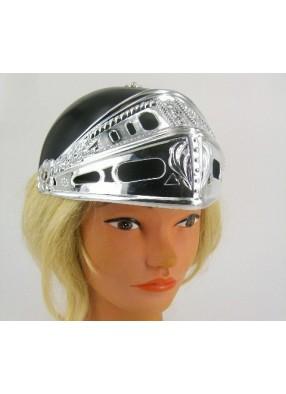 Шлем рыцаря черный с серебряным забралом