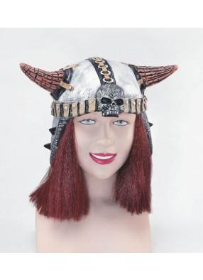 Шлем Викинга с волосами